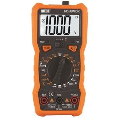 MECO - 3 1/2 DIGITS 2000 COUNTS MANUAL RANGING DIGITAL MULTIMETER (603 JUNIOR) +FREE CALIBRATION CERTIFICATE