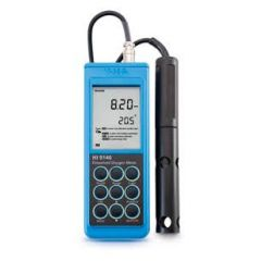HANNA - Dissolved Oxygen Meter  (0.0 TO 45.0 PPM) (HI9146) + Free Calibration Certificate
