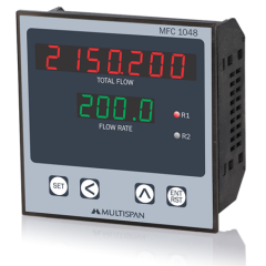 MULTISPAN- FLOW RATE INDICATOR CUM TOTALISER (MFC-1048) + FREE CAL.CERTIFICATE (001)