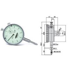 INSIZE - Plunger Type Dial Gauge (0 - 10 mm) (2301-10) ++Free Calibration Certificate
