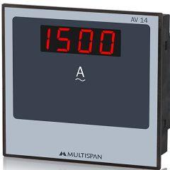 MULTISPAN-1 PHASE AMPERE METER (AV-14)  + FREE CAL.CERTIFICATE (001)