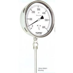 POINTER - TEMPERATURE GAUGE (300 ˚ C) + FREE CALIBRATION CERTIFICATE ) - THERMOWELL TYPE