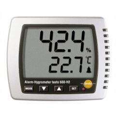 Testo- Thermohygrometer ( -10°C to +70 °C, +2 to +98 % RH) (608-H2)+Free Calibration Certificate