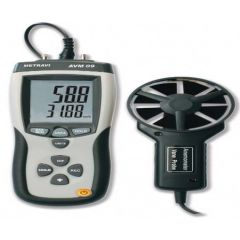 METRAVI- Digital Anemometer (Speed + CFM) With Infra red Thermometer ( 0.40 to 30 m/s) (AVM-08) + free cal. certificate