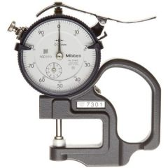 MITUTOYO - Dial Thickness Gauge E ( 0 - 10 MM) (7301) + Free Calibration Certificate