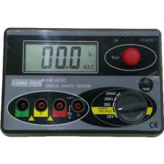 KUSUMMECO - Digital Earth Resistance Tester (KM 2030) With Calibration Certificate