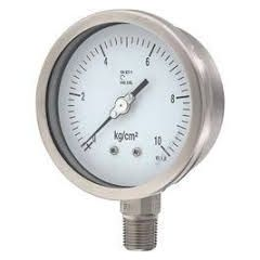 SUZHIK-Pressure Gauge (0-70 kg , 4'' DIA, M.S , Without Glycerin) + Free Calibration Certificate