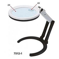 INSIZE- Three Way Magnifier With Illumination (4X) (7512-1)+Free Calibration Certificate