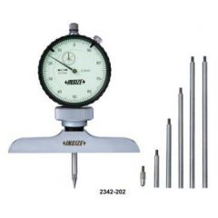 INSIZE - DIAL DEPTH GAUGE ( 0- 300MM ) (2342 -202A ) + FREE CALIBRATION CERTIFICATE