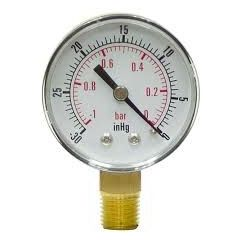 "WAAREE - Vaccum Gauge ( -760 to 0 Kg , 6 ""  , S.S ) +Free Calibration Certificate"