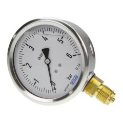 "WIKA - Pressure Gauge  ( 0  TO6 BAR , 2.5 "" ,  S.S , Glycerin  Filled )   +Free Calibration Certificate"