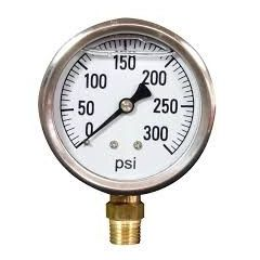 "ZOOM - Pressure Gauge ( 0 to 250  BAR , 6 "" , S.S ) + Free Calibration Certificate"